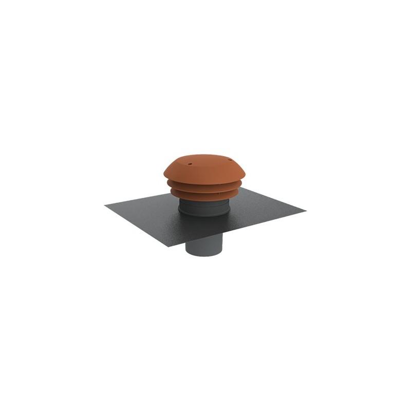 Chapeau de toiture plastique + feuille de plomb D.125mm