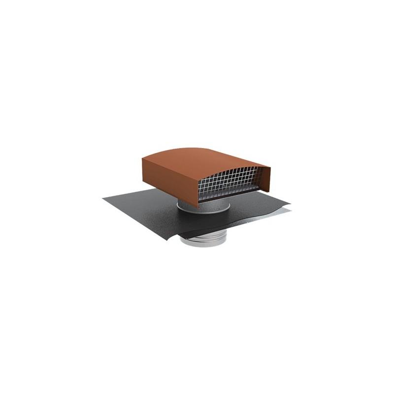 Chapeau de toiture métallique + feuille de plomb D.200mm