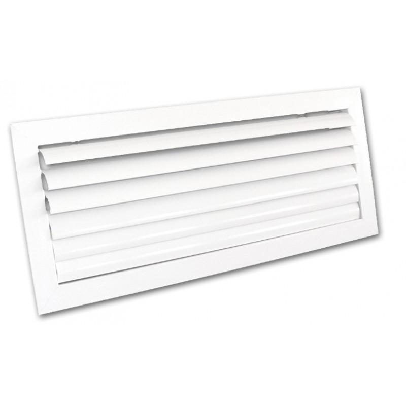 Grille ailettes courbes blanche 300x100 mm
