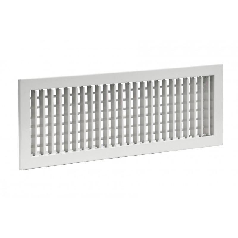 Grille aluminium double déflexions 300x150
