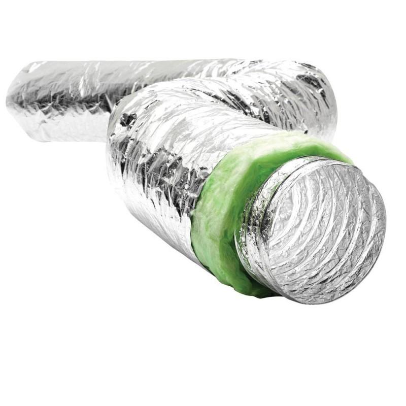 Conduit souple aluminium isolé 10M D.80mm