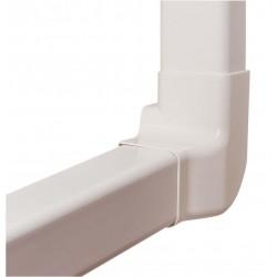Angle vertical droit 80 mm pour goulottes