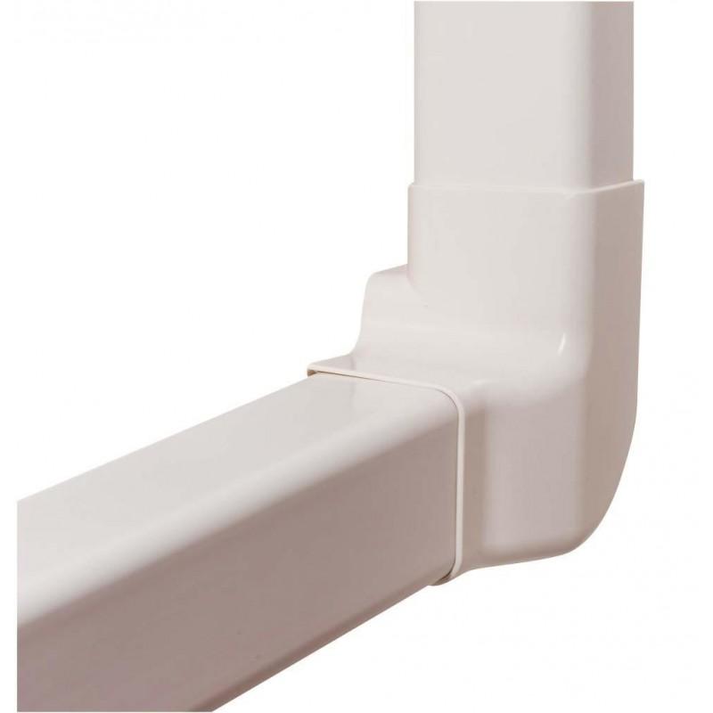 Angle vertical gauche 80 mm pou goulottes