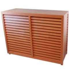 Cache climatisation bois teck
