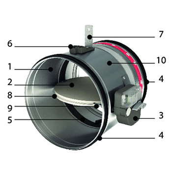 CR120 - Clapet coupe-feu circulaire optimisé jusqu'à 120'